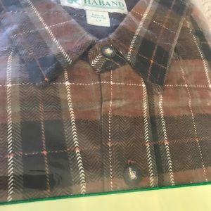 Haband Flannel Front Pocket Plaid Shirt